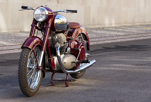 a retro motorcycle