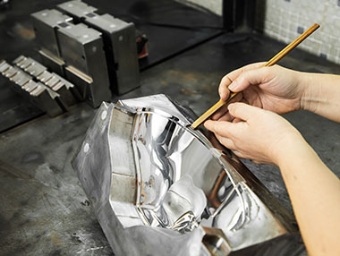 Chrome plating and spraying processed on part surface