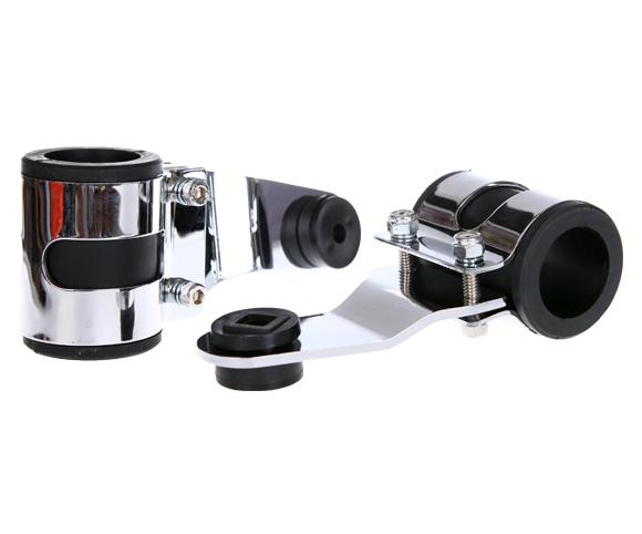 chrome headlight brackets for Cafe Racer SMR04