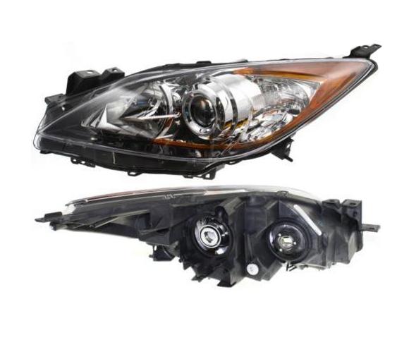 Headlight for Mazda MA2518130 back view SCH4