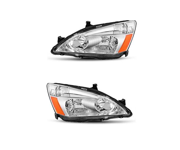 Headlight for Honda 2003-2007, 33151SDAH01, 33101SDAH01, front view SCH14