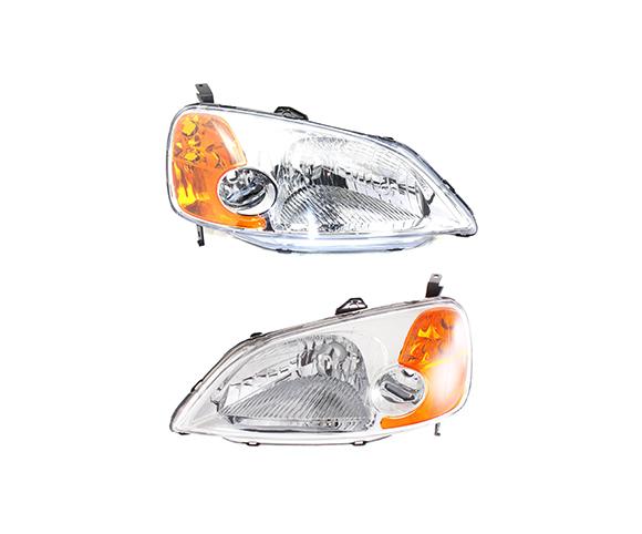Headlight for Honda CIVIC, 2001-2003, pair view SCH86