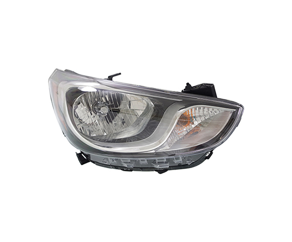 Headlight for Hyundai, Accent, 2012-2013 front view SCH125
