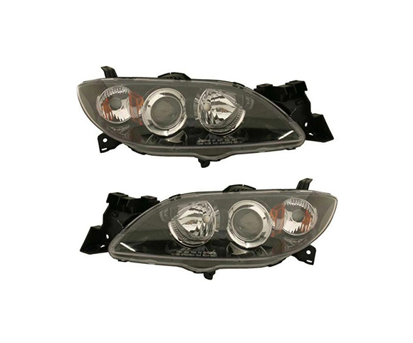 Headlight for Mazda 3 2004 front view SCH115