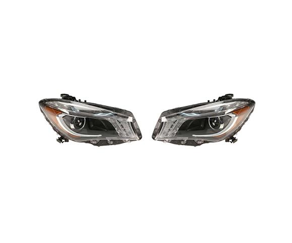Headlight for Mercedes Benz CLA 250, 2014-2018, front view SCH83