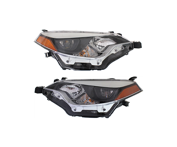 Headlight for Toyota Corolla 2014-2016 pair view SCH91