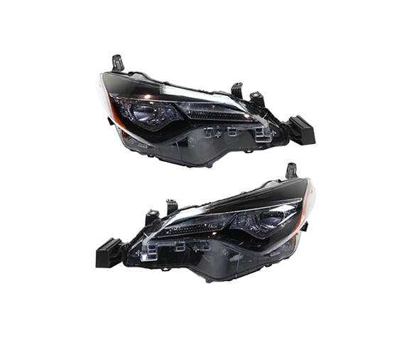 Headlight for Toyota Corolla LE American version 2017-2019 pair view SCH93