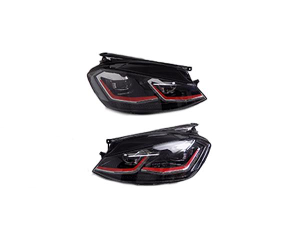 Headlight for VW Golf MK7.5 2014 pair view SCH89