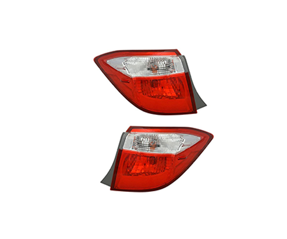 Outer Tail Light for Toyota Corolla 2014-2017 pair view SCTL79